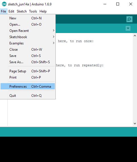 เข้าเมนู File >> Preferences