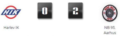 NB 93 slår Harlev med 0-2 på mål af Sune (straffe) og Toke!