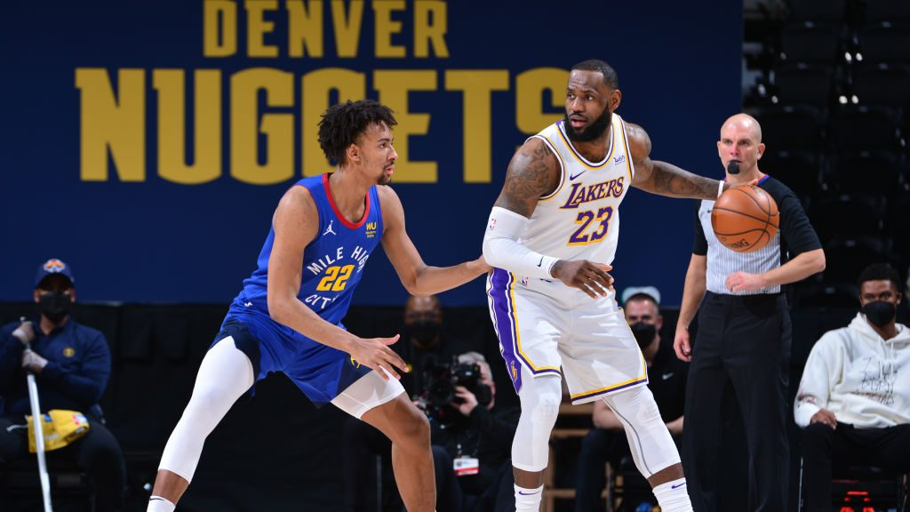 LeBron James in Lakers-Nuggets