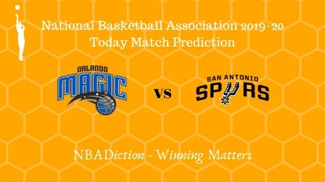 magic vs spurs 16112019 - Magic vs Spurs NBA Today Match Prediction - 16th Nov 2019