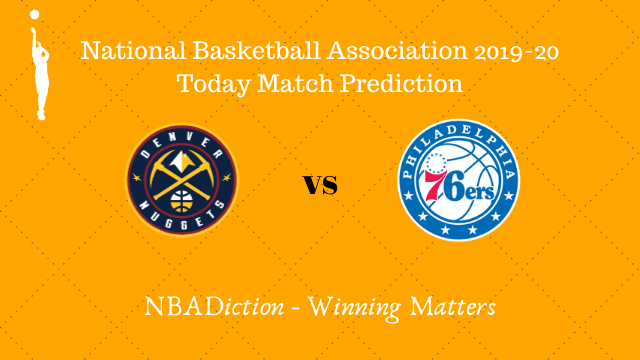 nuggets vs 76ers 09112019 - Nuggets vs 76ers NBA Today Match Prediction - 9th Nov 2019