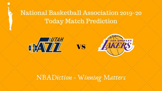 jazz vs lakers prediction 05122019 - Jazz vs Lakers NBA Today Match Prediction - 5th Dec 2019