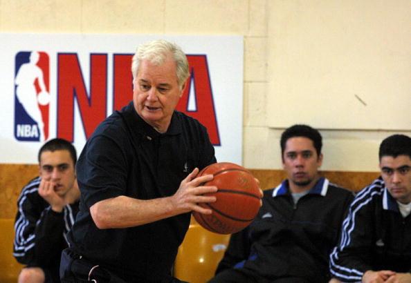 Tex Winter ex NBA coach at a basketball training c