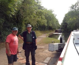 The lovely Waterways Chaplain gave Sandra a hand through some of the Lapworth Locks on Thursday
