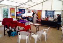 Facepainting set up in the marquee