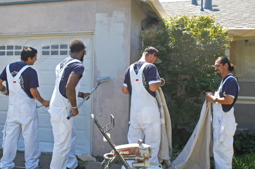 Painting with premium-quality commercial-grade paint