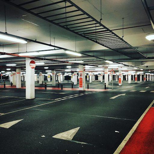 A clean parking garage after parking lot maintenance services