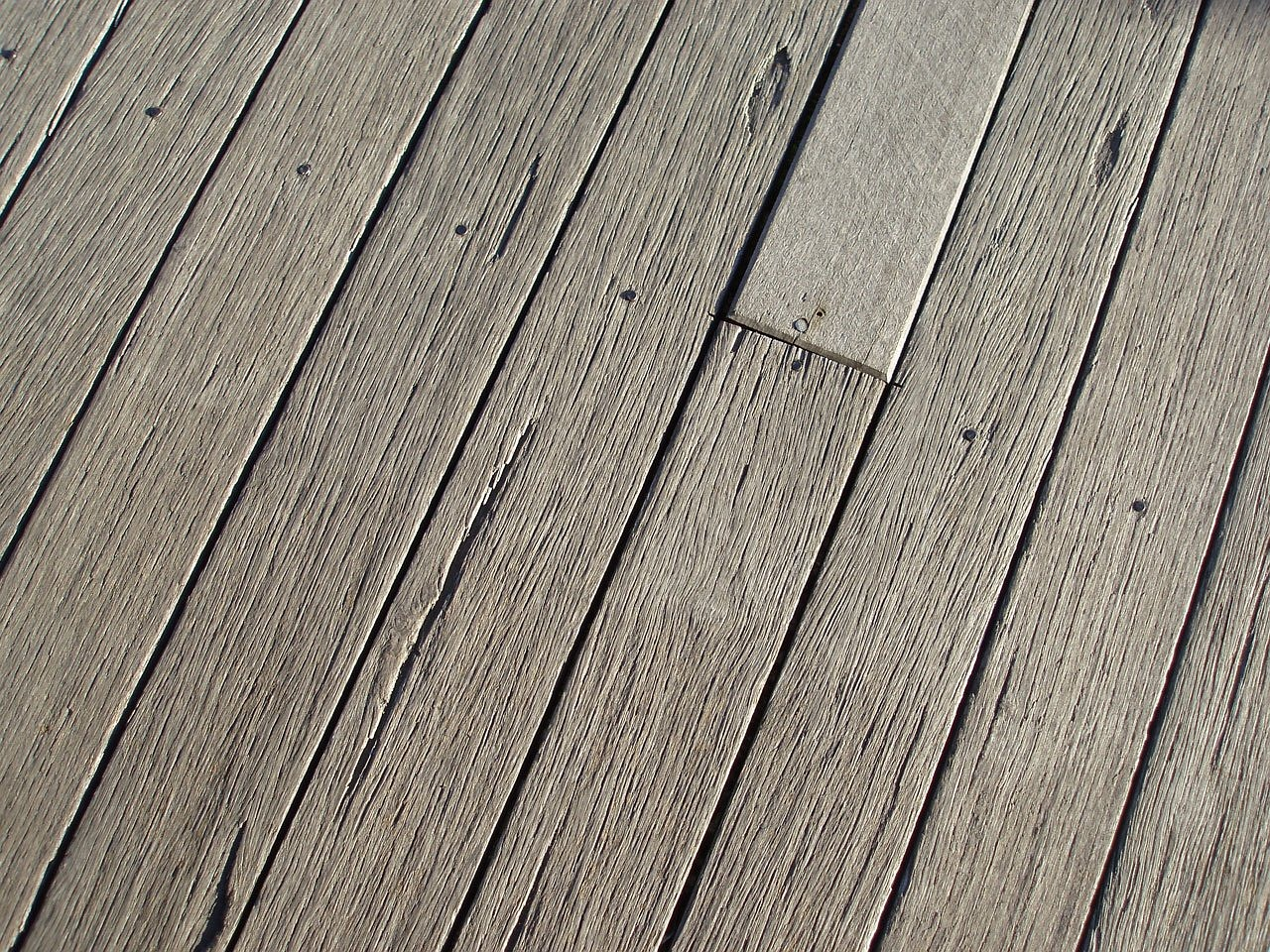 Close-up of wood deck.