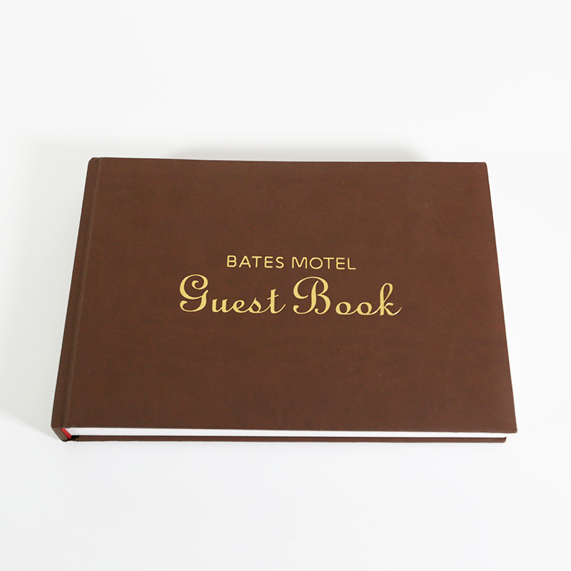 Custom Soft Cover Case Binding with Gold Foil Stamp and Die Cut