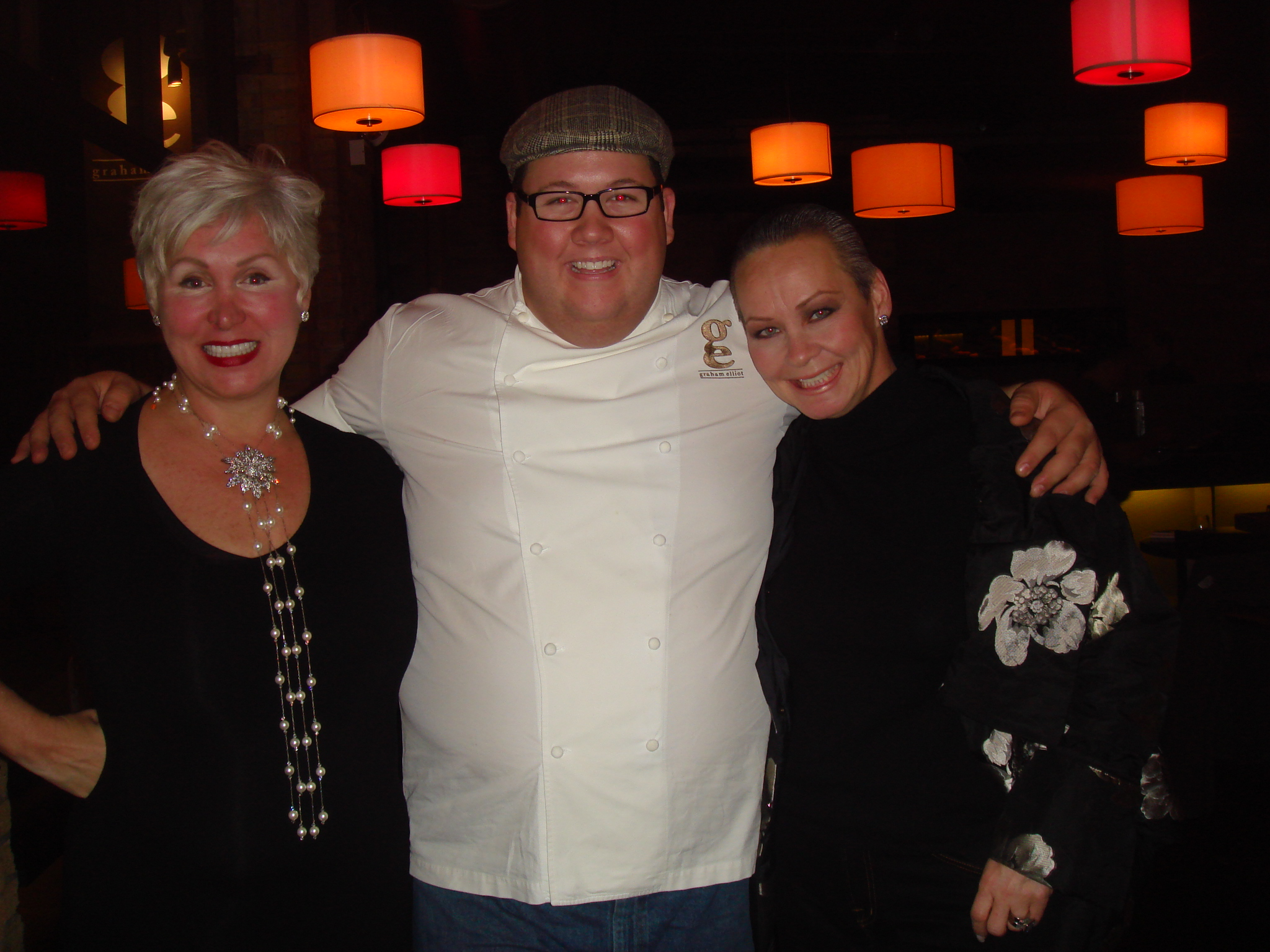 Rhonda, Chef Graham Elliot, and Me