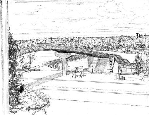 """""""Bridge Sketch"""" by Michael Pohl"""