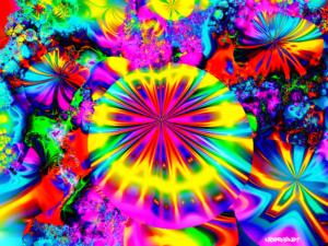 Mushroom garden fractal