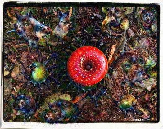 Amanita mushroom trippy deep dream