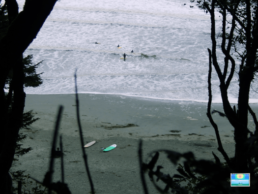 Surfing at Florencia Bay