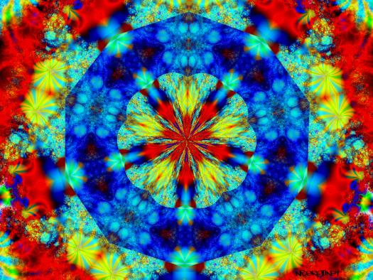 Cosmic mushroom odyssey mandala 2