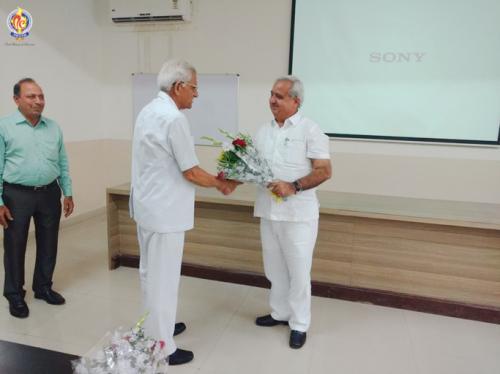 Token of respect given by President, Mr. M.C. Nagpal to Vice Chancellor, Starex University Mr. Ashok Diwakar