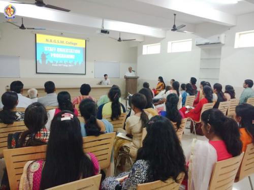 Teachers attending the orientation programme
