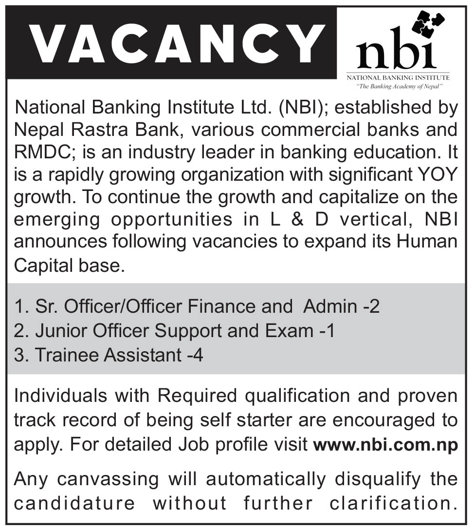 Commercial Banker Cover Letter Vacancy Announcement From National Banking Institute