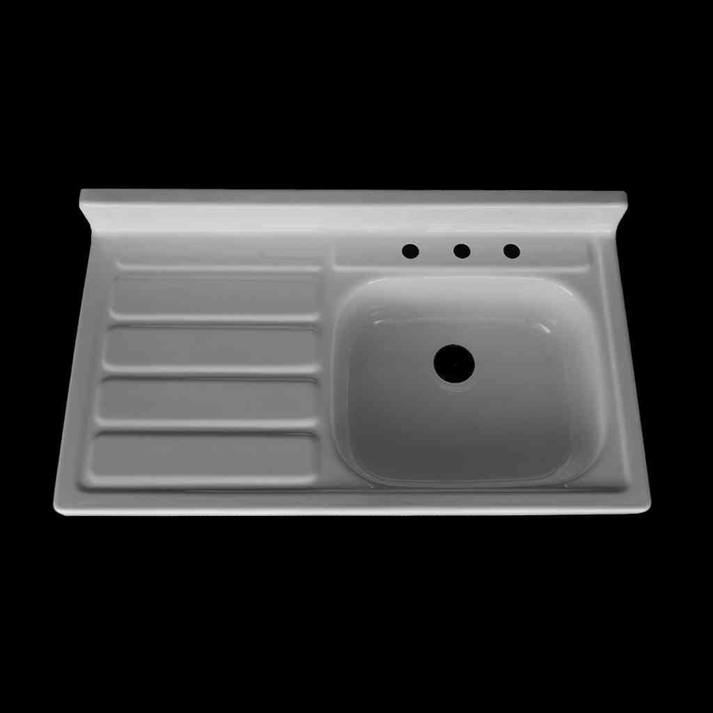 single bowl left hand drainboard sink model sbw4224 l