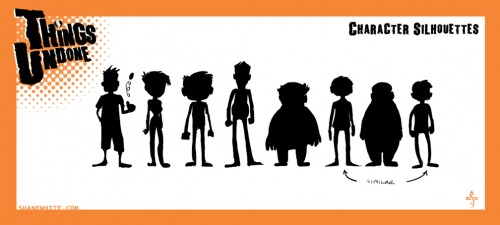 Silhouettes help define character.