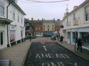 Road looking down to the Market Square