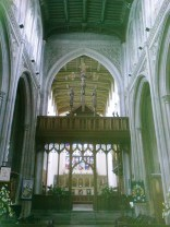 Rood screen and chancel beyond