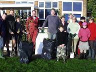 School- hedge planting event