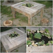 Pallet Table with Plants