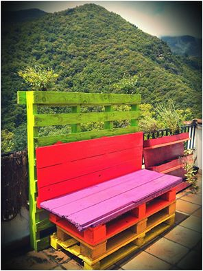 Colourful bench