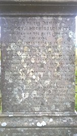 ..and a fascinating, effusive memorial to a vicar of 'sterling worth'