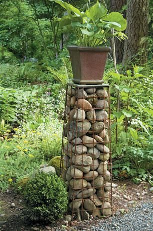 gabion pedestal