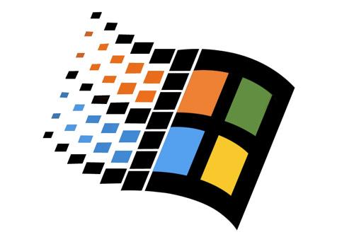 le logo windows version 98 a quarante deux carrés