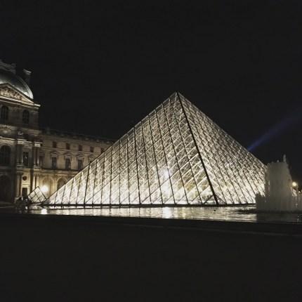 Louvre's entrance