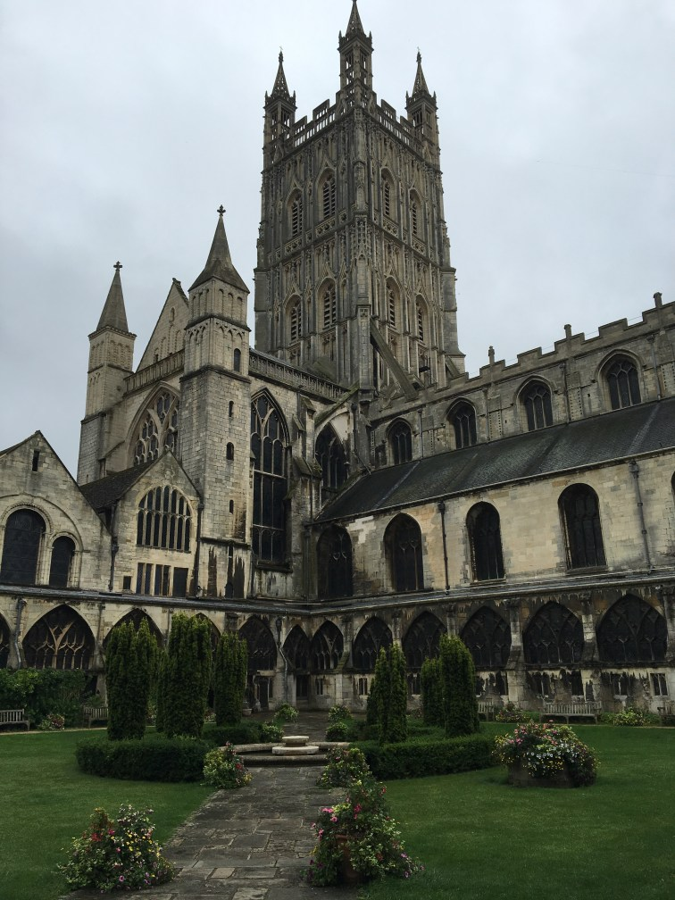 Courtyard of Gloucester Cathedral