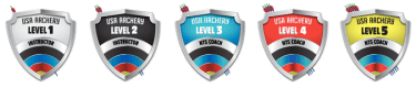 Archery Coaching Levels Shields