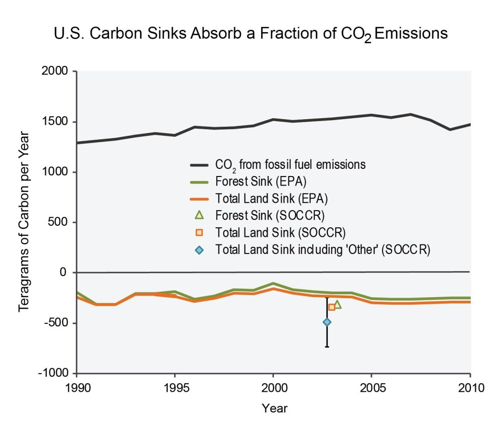 medium resolution of figure 15 5 u s carbon sinks absorb a fraction of co2 emissions