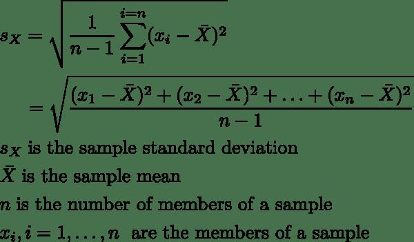 Standard Deviation Calculator (Simple Method)