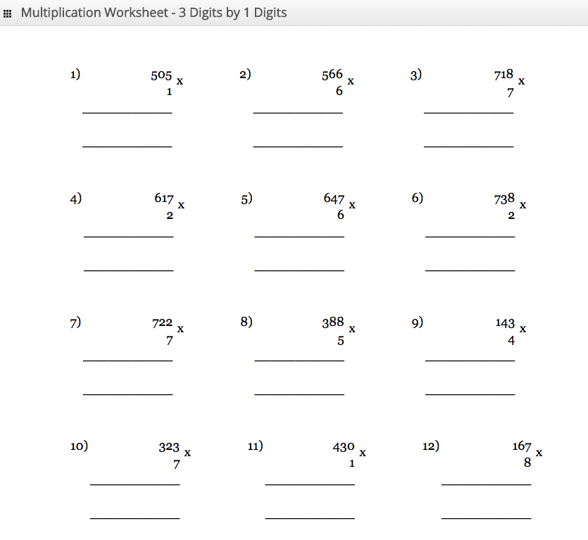 100x100 Times Tables Grid