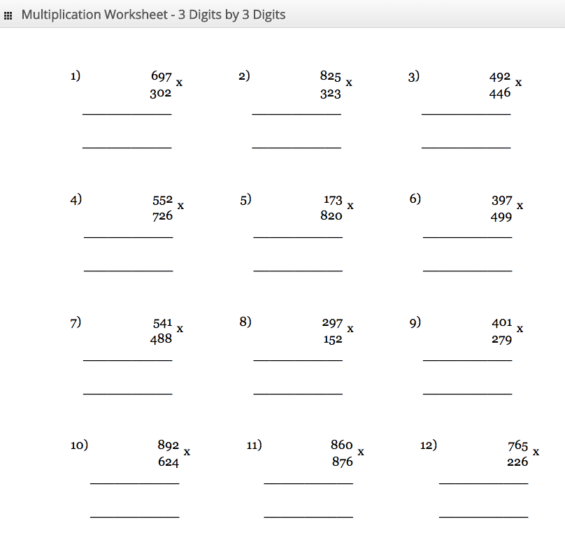 11 to 15 Times Tables