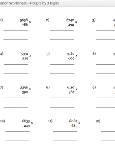 Multiplication worksheet digit by also table chart from to pdf  printable rh ncalculators