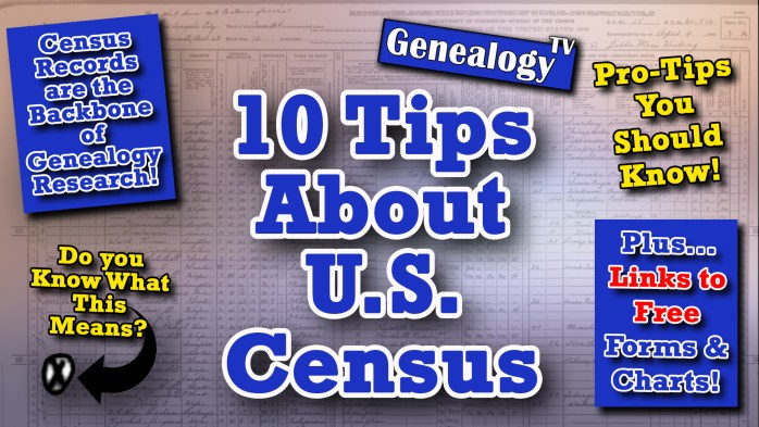10 Tips for U.S. Census Records for Genealogy Research