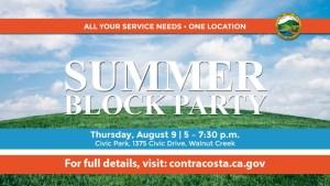 Summer Block Party @ Walnut Creek Civic Park  | Walnut Creek | California | United States