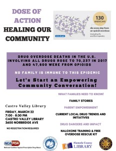 FREE Dose of Action Event:  Healing Our Community @ Castro Valley Library