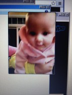 Even though it's the blurriest, skyping with this kid makes everything feel better