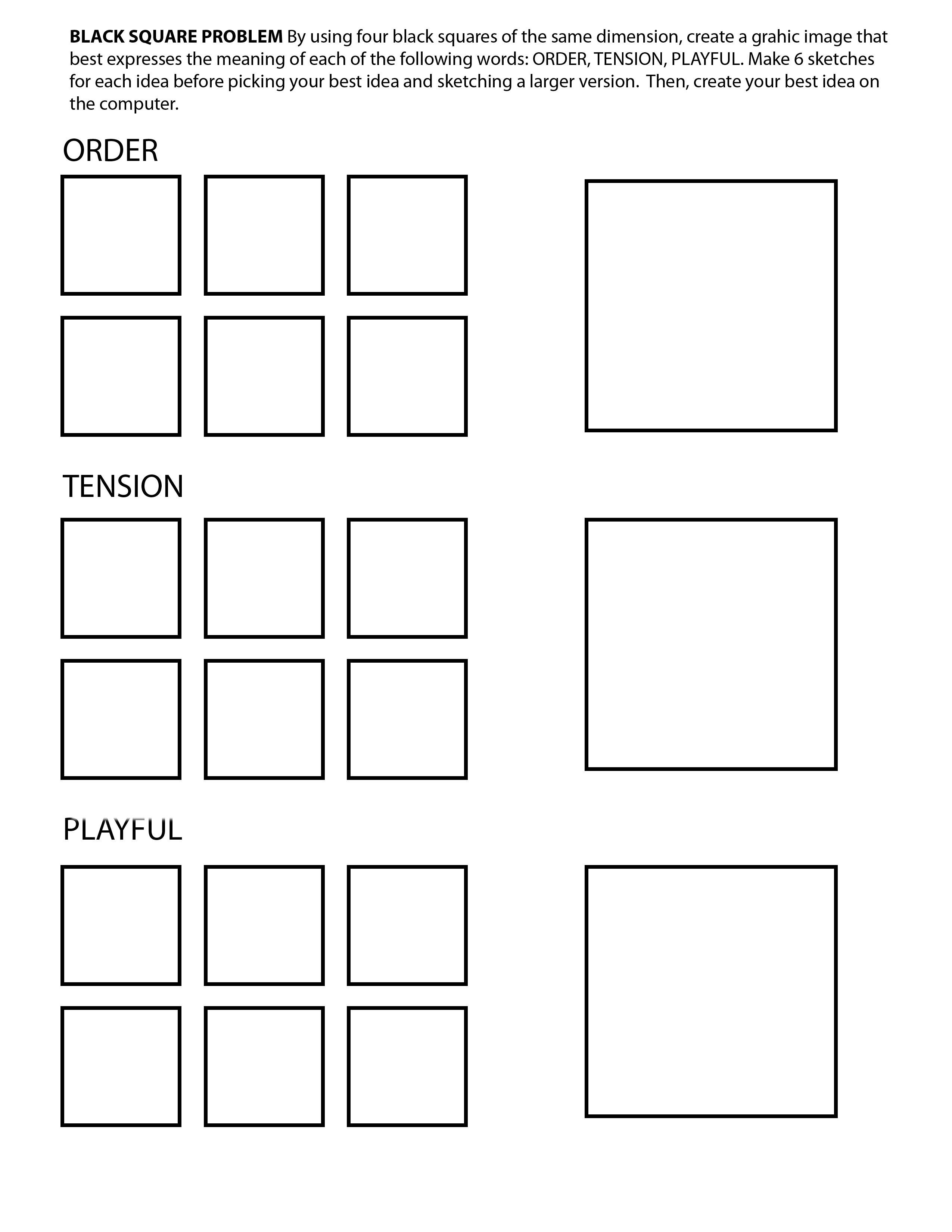 Assignment 4 Black Square Problem
