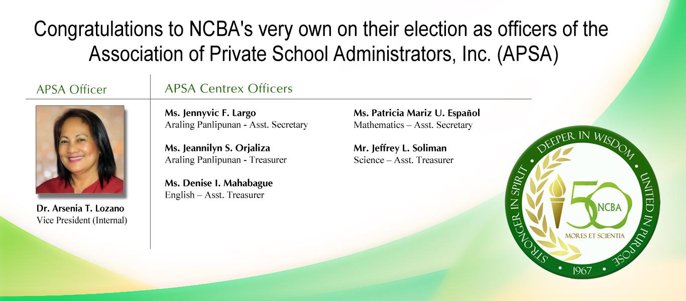 NCBA APSA Officers 2019