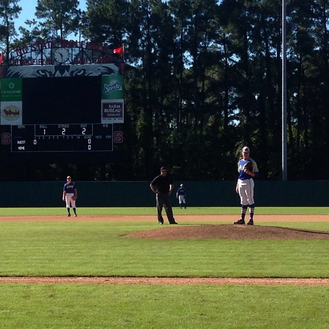 2015 NCBA Golden Spikes playing at NC State Justin Olczakhellip