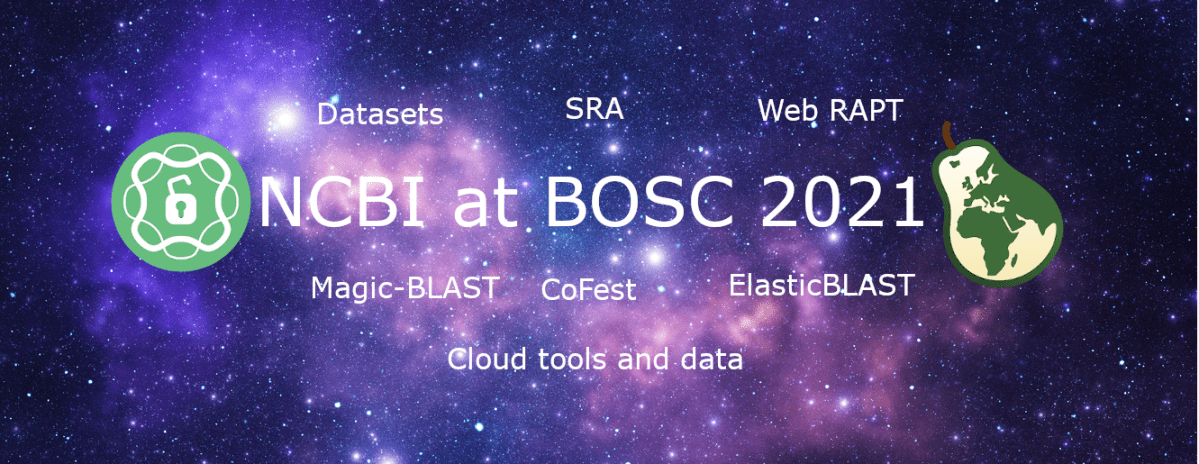 NCBI events at the Bioinformatics Open Science Conference 2021 (BOSC 2021)