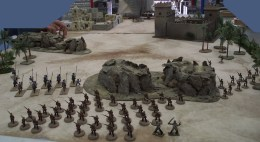 British infantry moving fast in open order.