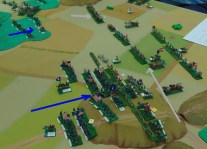 The Union infantry attack goes in.